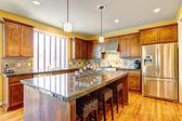Lüks mutfak oda ada — Stok fotoğraf