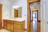 Maple bathroom vanity cabinet — Stock Photo
