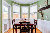 Dining room in light mint colo — Stock Photo