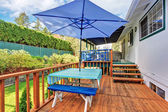 Back deck with stained wood. — Fotografia Stock