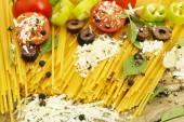 Spaghetti preparation — Stock Photo