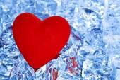 Heart on ice — Stock Photo