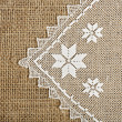 Doily and burlap — Stock Photo #54244873