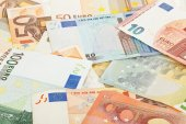 Billets en euros — Photo