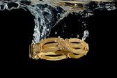 Bracelet in water — Stock Photo