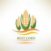 Corn vector symbol — Stock Vector