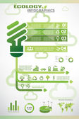 Ecology infographics, vector icons collection — Stock Vector