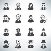 Profession icons vector set — 图库矢量图片