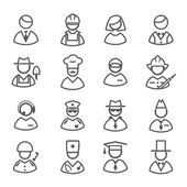 Profession icons vector set — Vetorial Stock