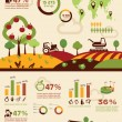 Agriculture and farming infographics, vector icons collection — Stock Vector #67397627