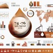 Oil and gas industry infographics, extraction, processing and tr — Stock Vector #67886805