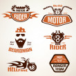 Set of vintage motorcycle labels, badges and design elements  — Stock Vector #71239639