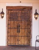 Iron Accented Doors — Stock Photo