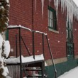 Large Icicles on Building — Stock Photo #58819433