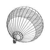 乱写乱画的线,eps 10 热空气气球矢量速写. — 图库矢量图片