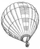 Doodle van hete lucht ballon vector schets regel gebruikt, eps 10. — Stockvector