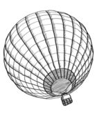 Doodle of Hot Air Balloon Vector Sketch Up line, EPS 10. — Stock Vector