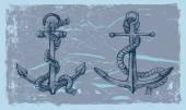 Hand drawn anchor — Stock Vector