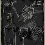 Chalk wine — Stock Vector #53653783