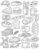 手描きのパン — ストックベクタ