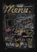 Vector chalk menu — Stock Vector