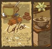 Hand drawn coffee — Stock Vector