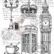 Illustration of telephone great britain — 图库矢量图片 #54618203