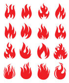 Red fire — Stock Vector