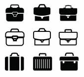 Briefcase icons — Stock Vector