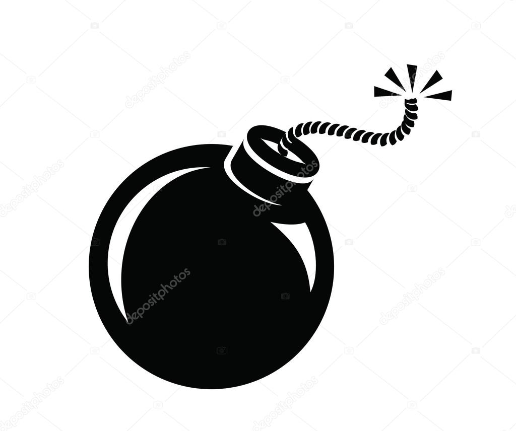 Bombe-Symbol — Stockvektor #57844349