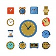 Clocks icons — Stockvektor  #60351683