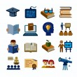Higher education icons — Stock Vector #60539255