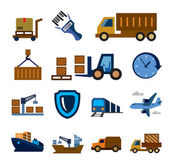 Logistic and shipping — Vettoriale Stock