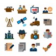 Reporter icons — Stock Vector #61327723