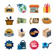 Shopping icons — Stock Vector #62796543