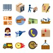 Shipping icons — Stock Vector #62889563