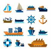 лодка и судно — Cтоковый вектор