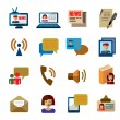 Communication icons — Stock Vector #62987837