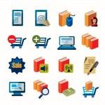 E-book icons — Stock Vector #63454213