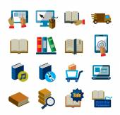 Books icons — Stock Vector