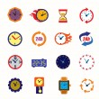 Clocks icons — Stock Vector #63996091