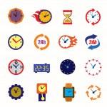 Clocks icons — Stok Vektör #63996091