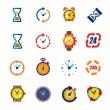 icônes d'horloges — Vecteur #63996219
