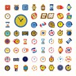 Clocks icons — Stockvektor  #63996315