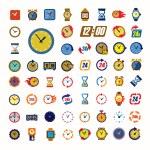 Clocks icons — Stok Vektör #63996315