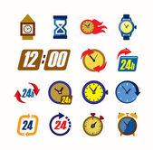 Clocks icons — Stock Vector