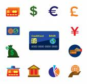 Credit card icons — Stock Vector