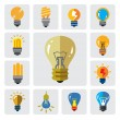 Bulbs icons — Stock Vector #64222183
