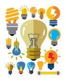 Bulbs icons — Stock Vector