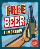 Free beer tomorrow — Stock Vector